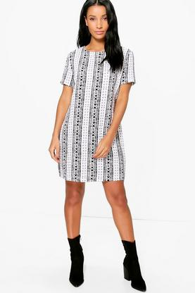 Alexandra Mono Shift Dress