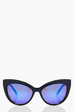 Freya Engraved Contrast Cat Eye Sunglasses
