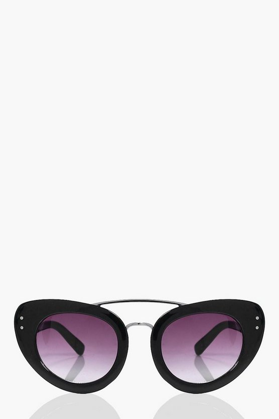Isabelle Black Brow Bar Cat Eye Fashion Glasses