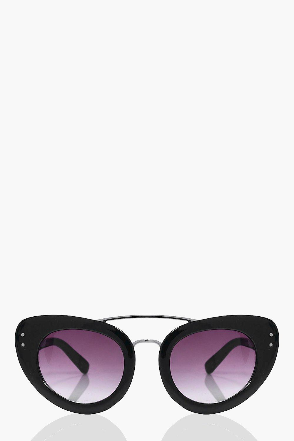 Isabelle Black Brow Bar Cat Eye Sunglasses