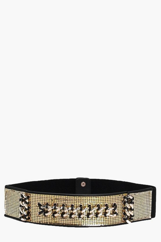 Evie Plaited Shimmer Waist Belt