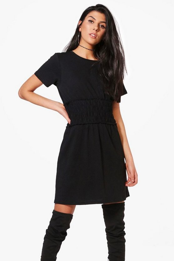 Sarah Shearing Detail Oversized T-Shirt Dress