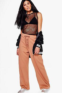 Haven Lace Up Wide Leg Loopback Sweat Joggers