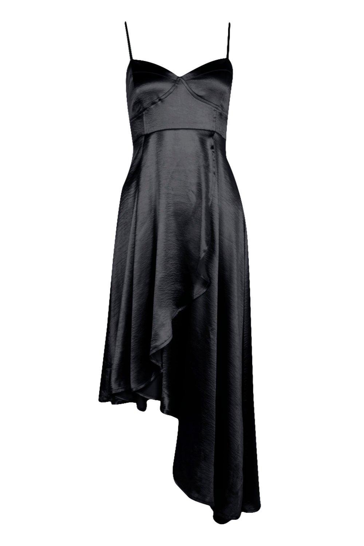 Boohoo-Vestido-Cruzado-Con-Bajo-Asimetrico-Hemia-Boutique-para-Mujer
