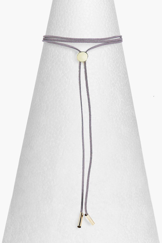 Boohoo-Frances-Concho-Style-Wrap-Tie-Choker-per-Donna