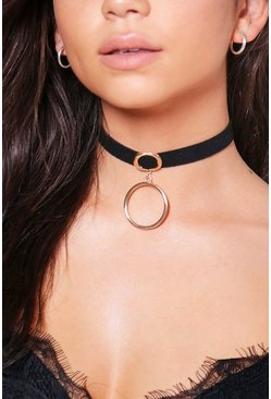 Paige Double Ring Detail Choker