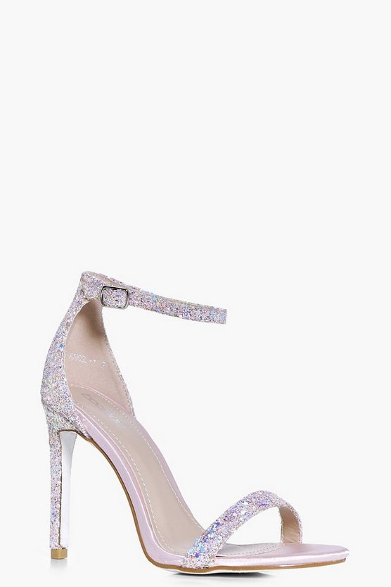 Rebecca Bridal Glitter Two Part Sandal