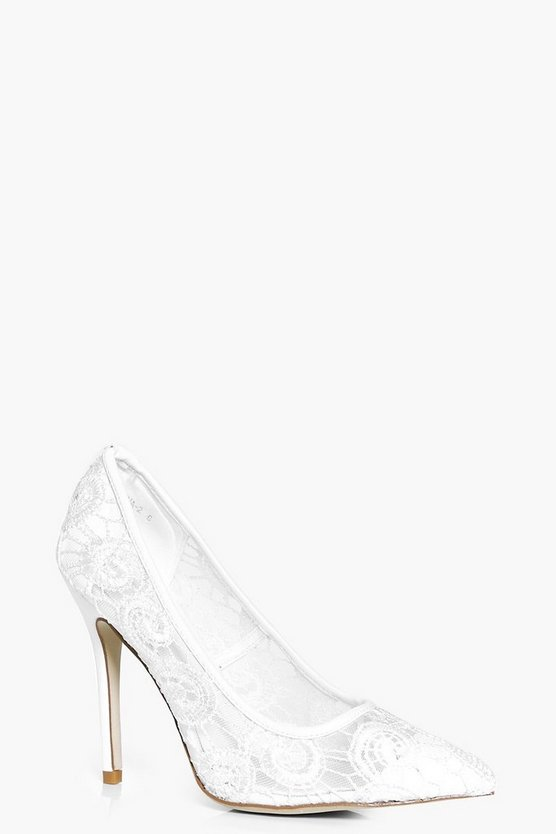 Olivia Bridal Lace Pointed Court