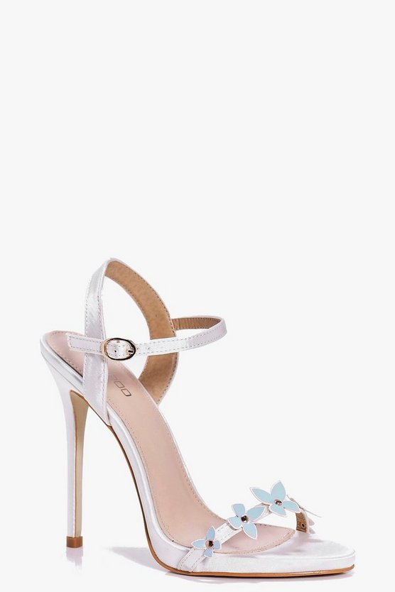Phoebe Bridal Butterfly Trim Two Part Sandals