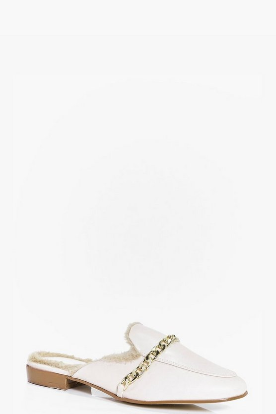 Annabelle Faux Fur Lined Mule Loafer