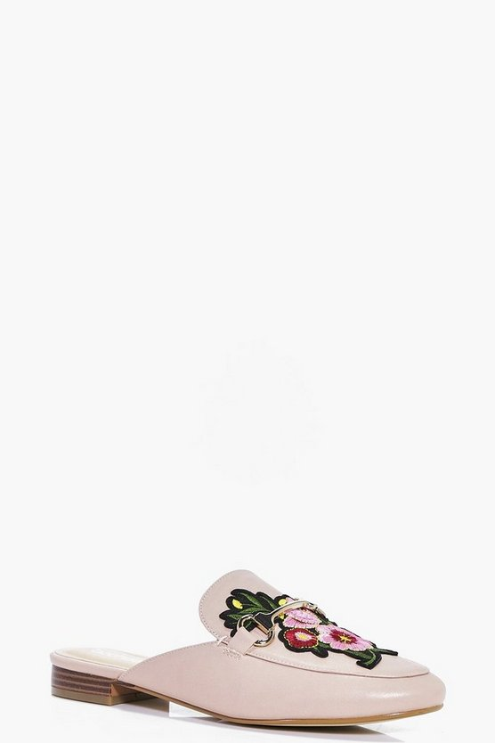 Melissa Floral Embroidered Mule Loafer