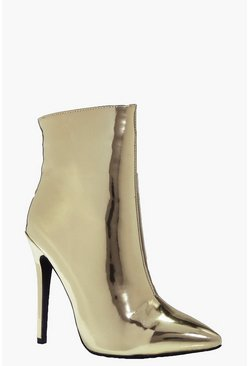 Nancy Metallic Pointed Shoe Boot
