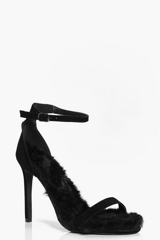 Darcy Faux Fur Lined Two Part Heels