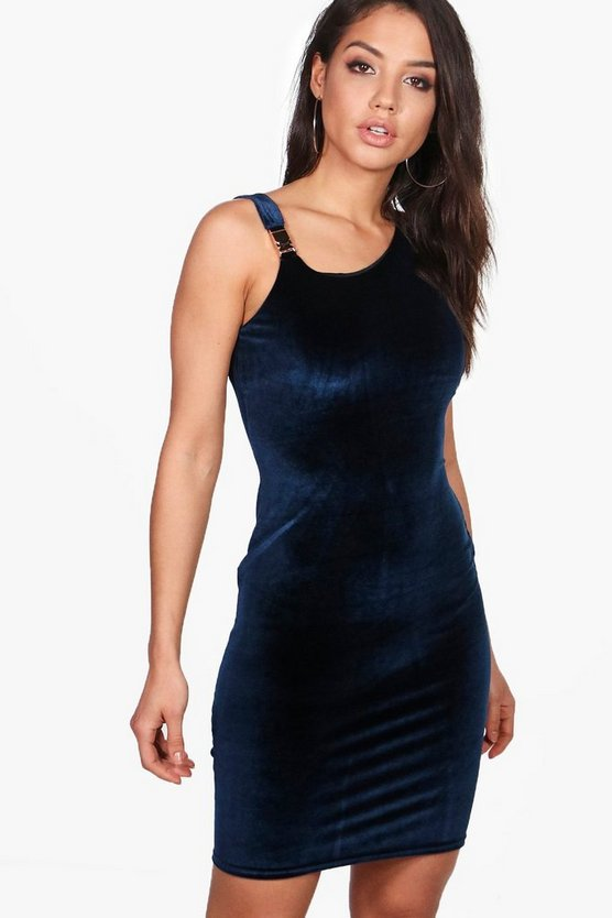 Ariana Stretch Velvet Bodycon Dress
