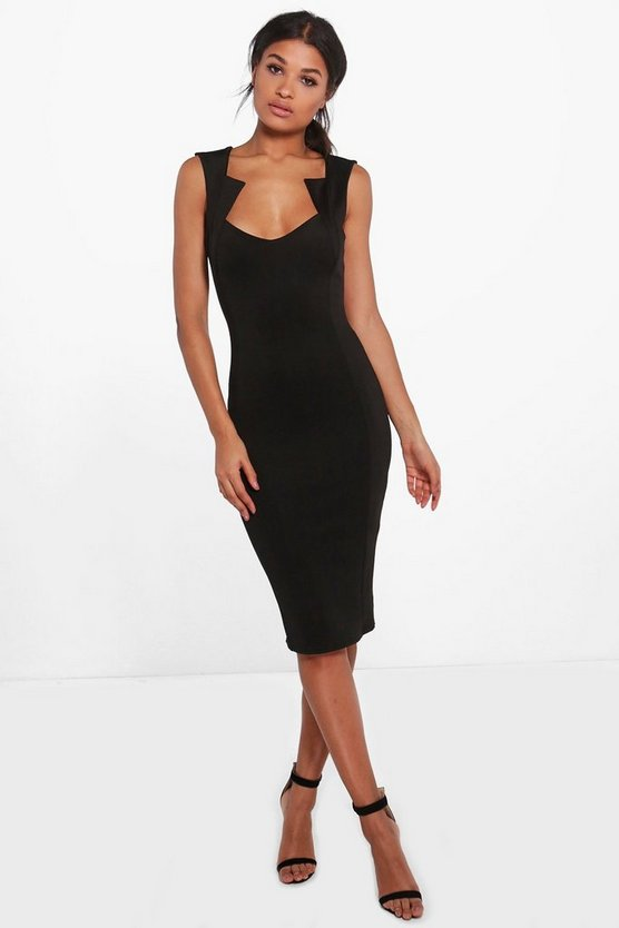 Olivia Cut Out Detail Midi Dress