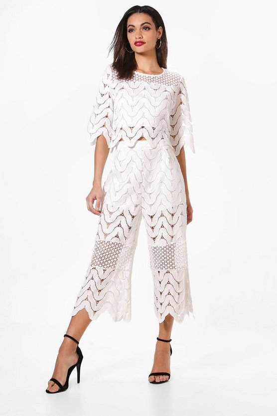 Harriet Woven Crochet Crop & Culotte Co-ord