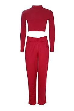 Ria Roll Slinky Crop & Textured Trouser