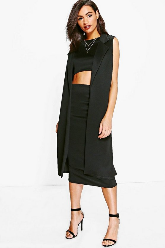 Daisy 3 Piece Crop Skirt & Duster Co-ord