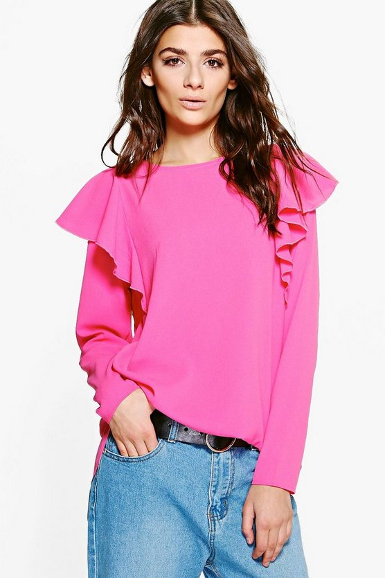 Nala Ruffle Detail Long Sleeve Top
