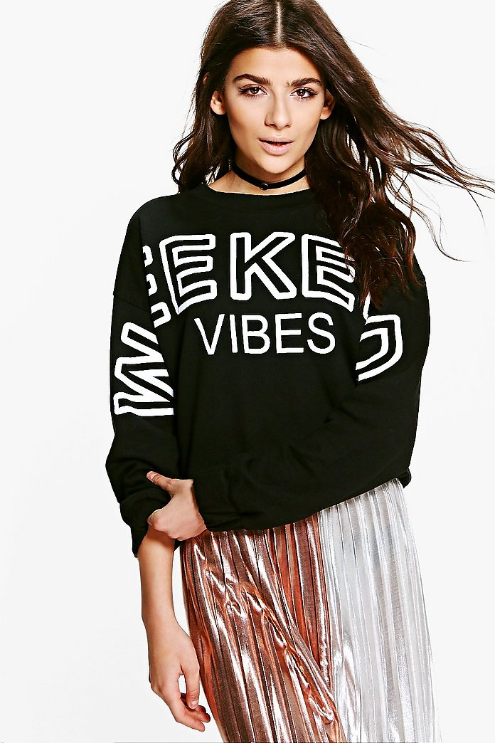 Hollie Good Vibes Weekend Printed Sweat