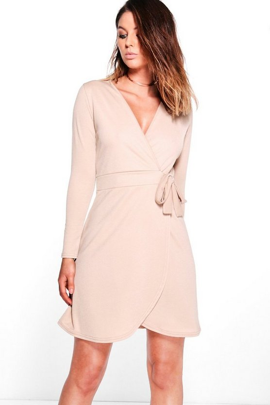 Suzannah Tie Wrap Skater Dress