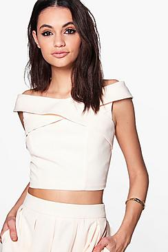 Kayleigh Boutique Woven Crop Top