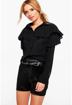 Rachel Ruffle Long Sleeve Shirt