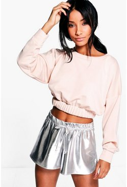 Ella Elasticated Hem Sweat Crop Top