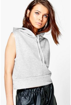 Fiona Sleeveless Basic Hoody