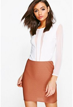 Ellisse Textured Mini Skirt