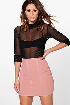 Alea Panelled Scuba Mini Skirt
