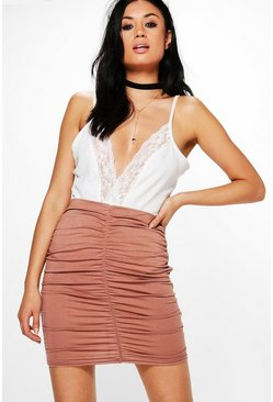 Nolita Rouched Jersey Mini Skirt