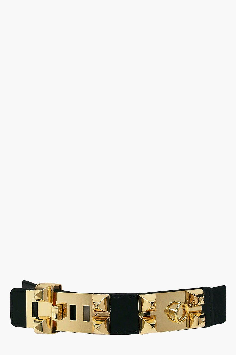 Statement Stud Waist Belt - black - Alisha Stateme