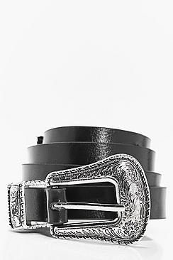 Skye Slim Western Buckle Boyfriend Belt