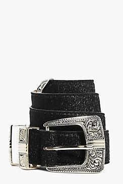 Isobel Faux Pony Western Boyfriend Belt