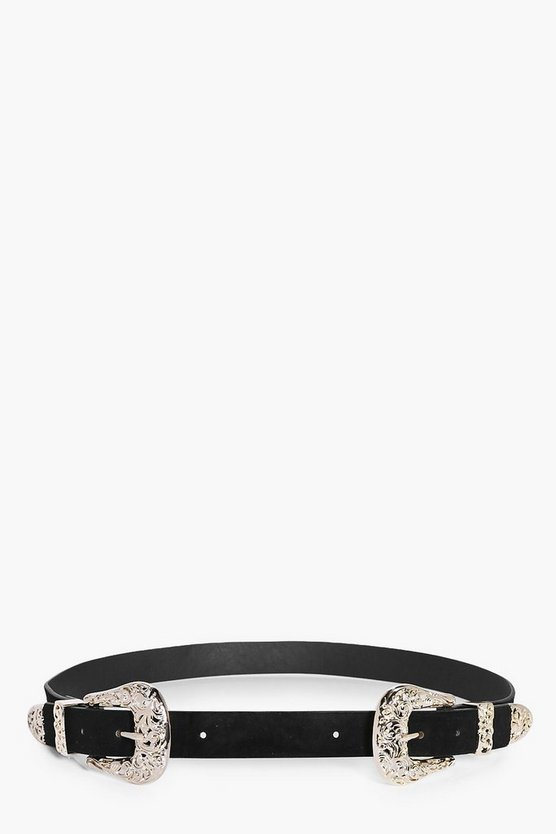 Orla Filigree Double Buckle Western Belt