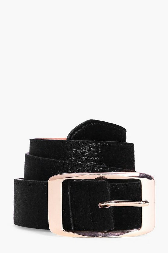 Harriet Faux Pony Boyfriend Belt