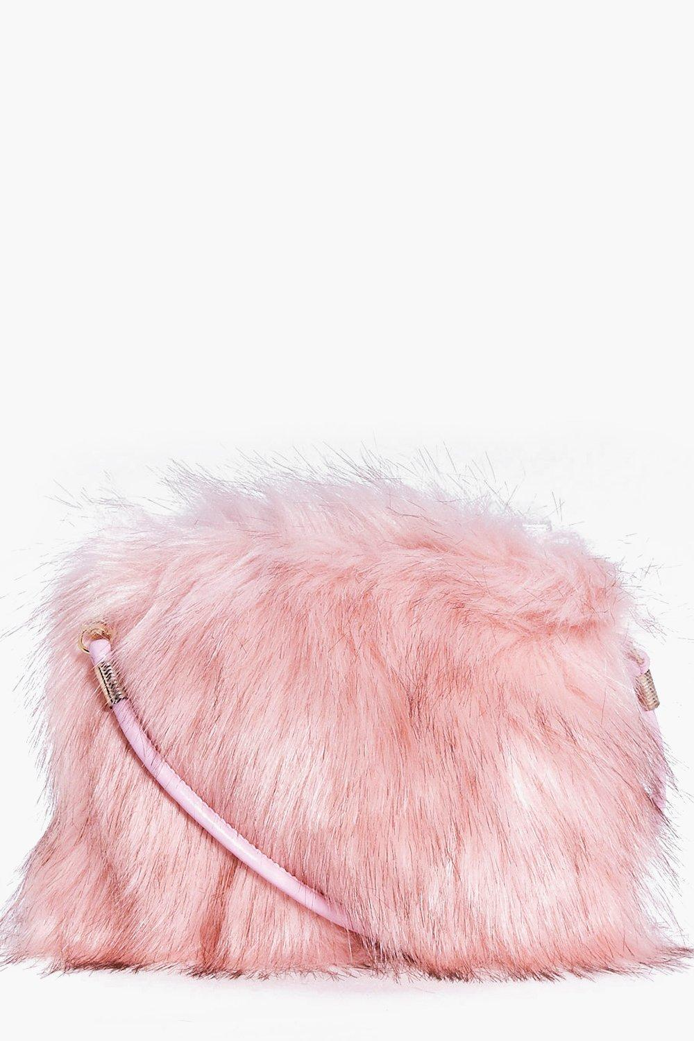 Gracie Faux Fur Cross Body Bag