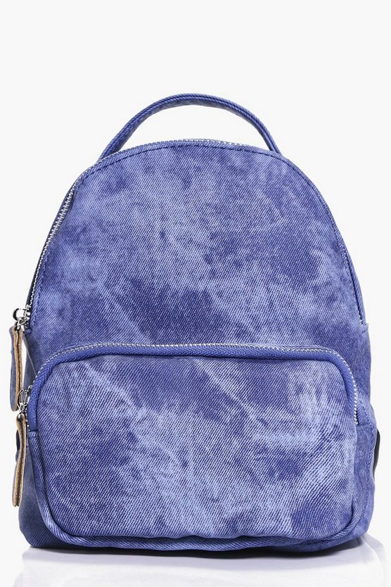 Amber Washed Denim Effect Rucksack