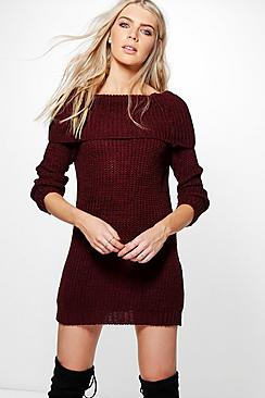 Lily Bardot Jumper Dress