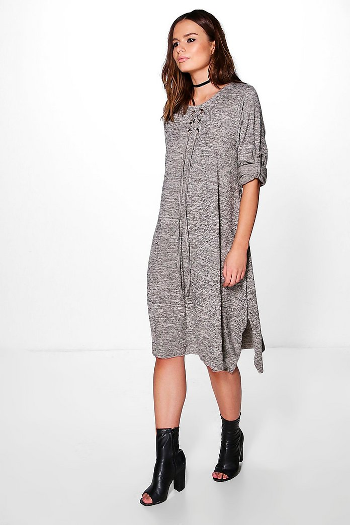 Laura Lace Up Knitted Dress