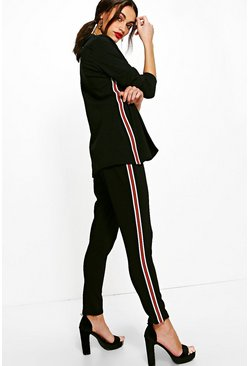 Julia Sports Stripe Trouser