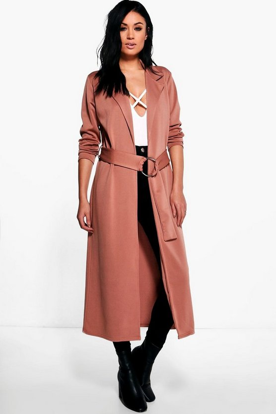 Kayla O-Ring Belted Duster