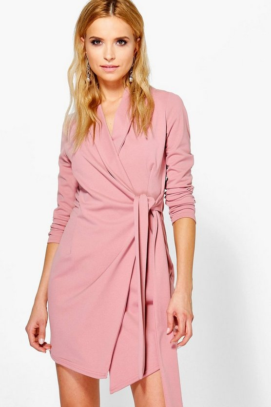 Nancy Side Tie Tailored Blazer Dress