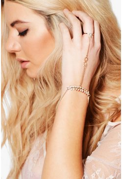 Ava Diamante Bar Detail Dainty Hand Harness