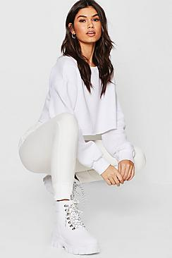 Priya Contrast Fabric Hem Detail Sweat Joggers