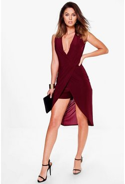 Abby Wrap Front Maxi Skort Playsuit