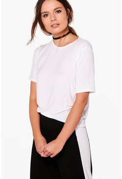Hazel Drawstring Basic T-Shirt