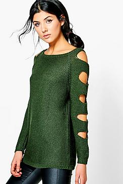 Ashleigh Slash Sleeve Jumper