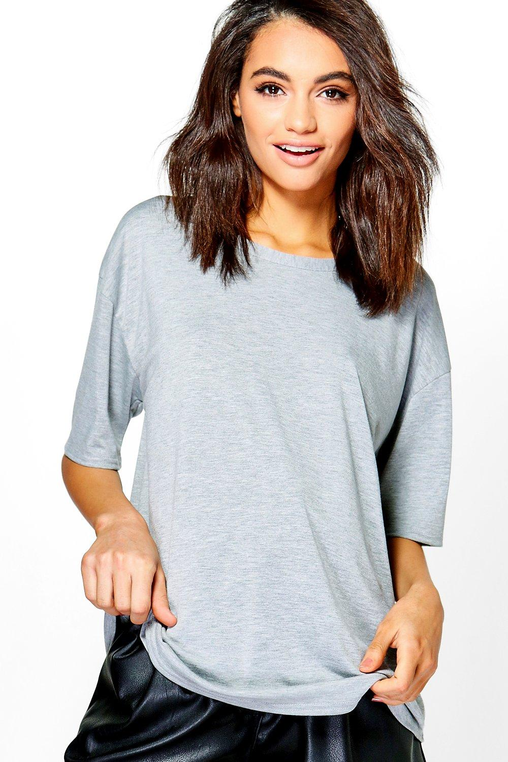 Boohoo womens tiffany tie back oversized t shirt ebay for How to make a tie back shirt